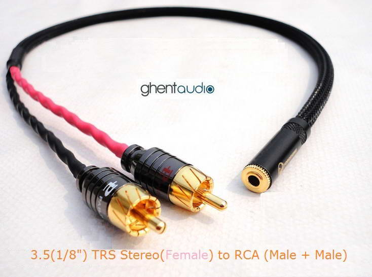 """G-C06 2m 6.5ft 6.35mm 1//4/"""" TRS--Dual RCA Canare L-4E6S Hifi Audio Cable male"""